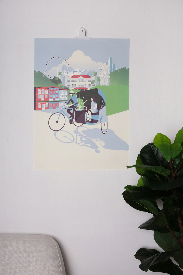 Raffles Singapore Poster