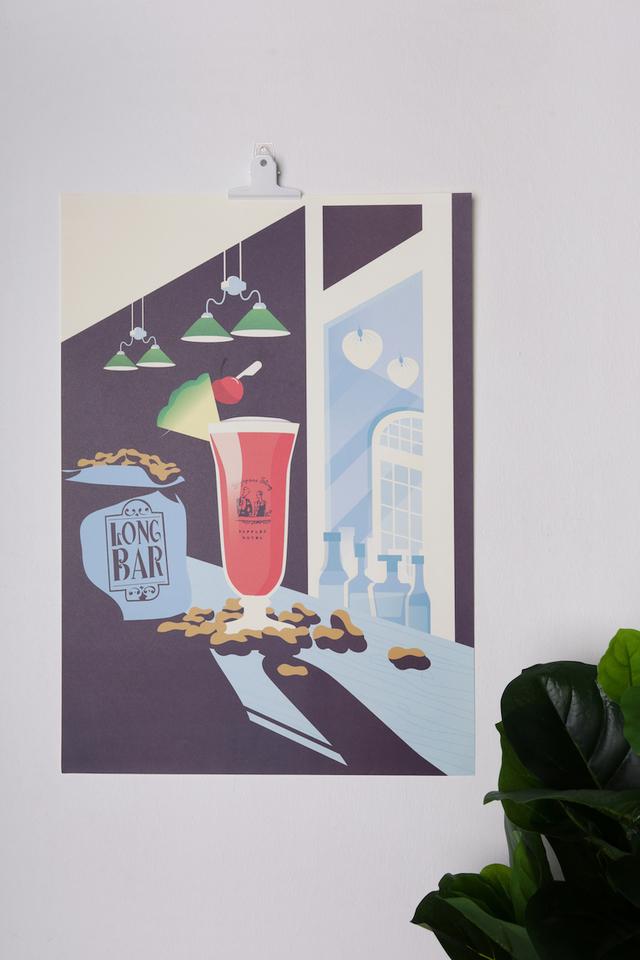 Long Bar Singapore Sling Poster