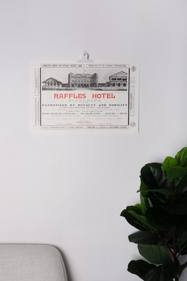 Raffles Advertisement Poster
