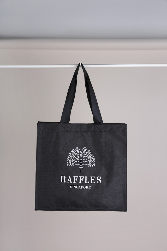Tote Bag in Black with  Snowfloral Raffles Logo
