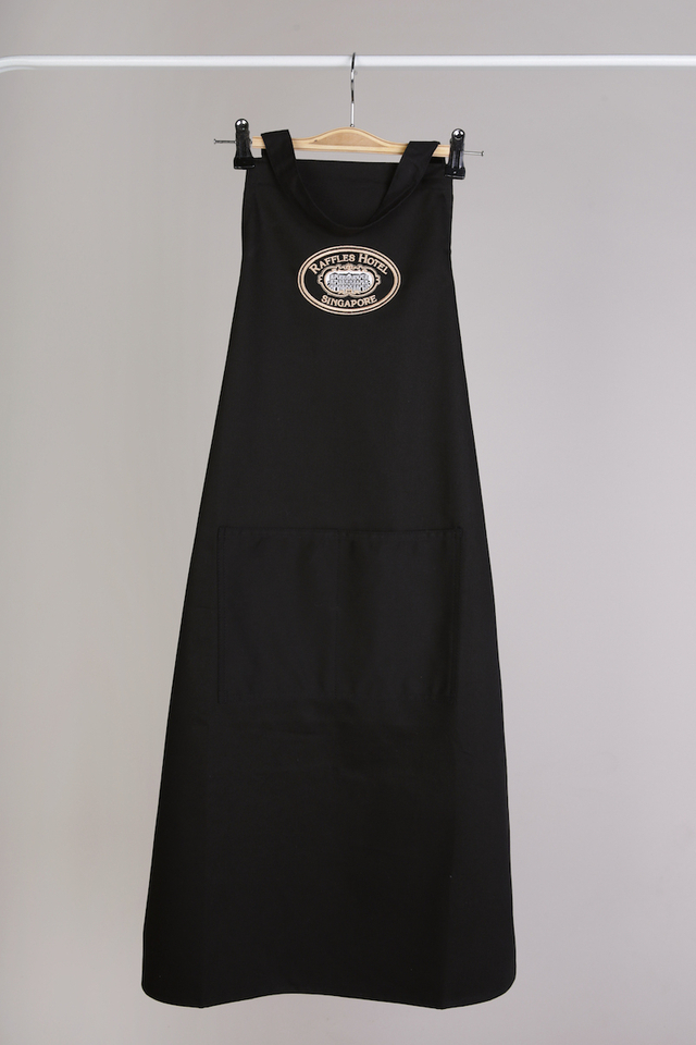 Apron with Embroidered Raffles Hotel Singapore logo