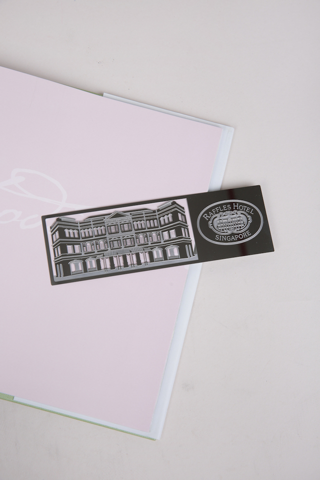 Bookmark with Facade View and Logo