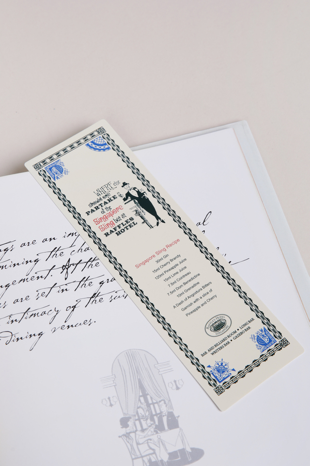 Book Mark in Partake Design with Raffles Logo