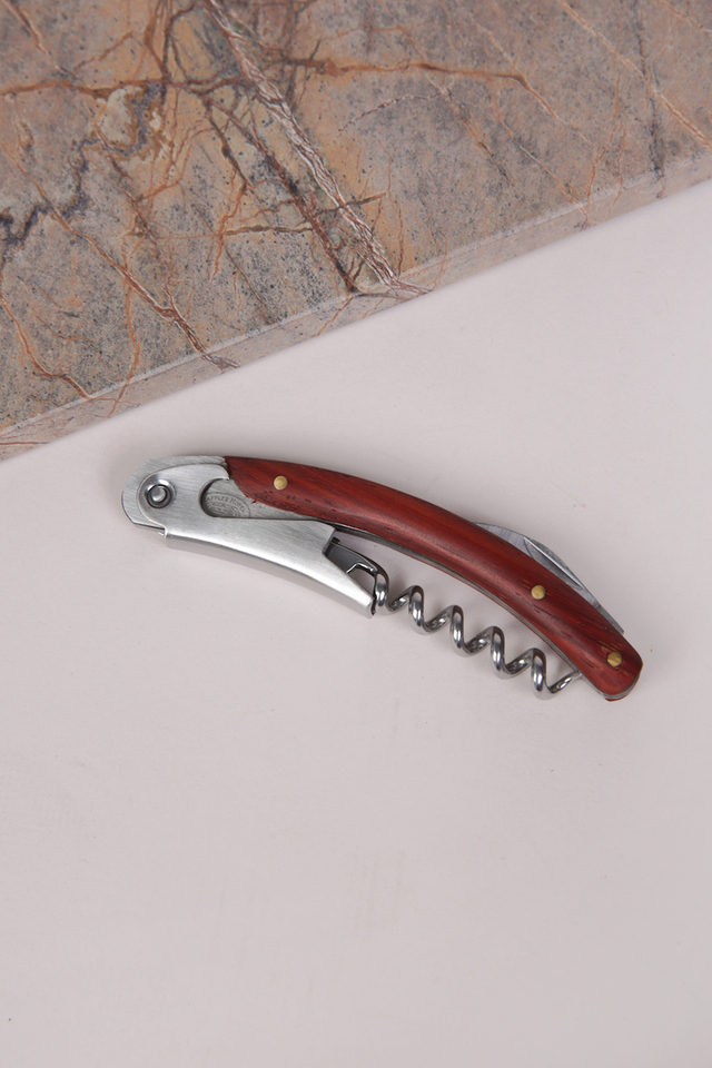 Barware Wine Opener Engraved with Raffles Design