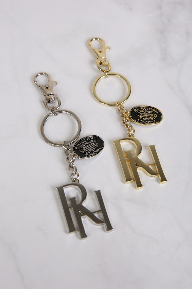 Raffles Key Holder in Gold/Silver