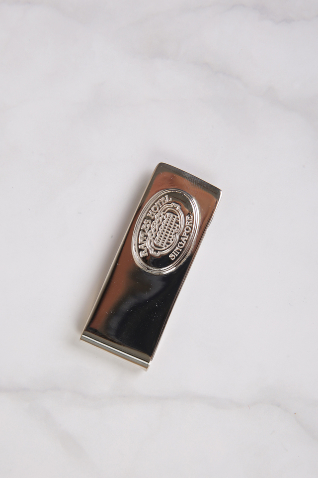 Raffles Silver Plated Money Clip