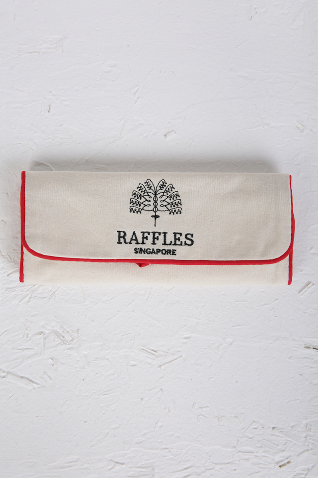Jewellery Pouch Embroided with Raffles Logo