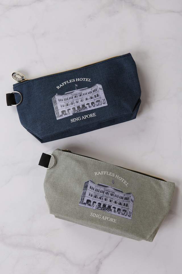 Cotton Pouch with Raffles Façade