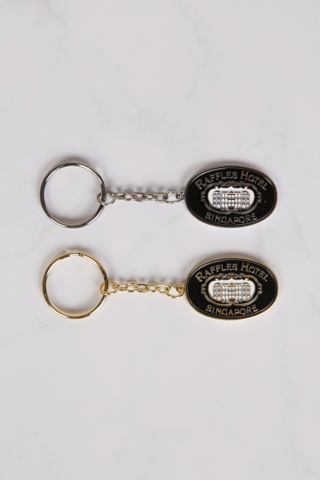 Oval Key Holder with Raffles Logo