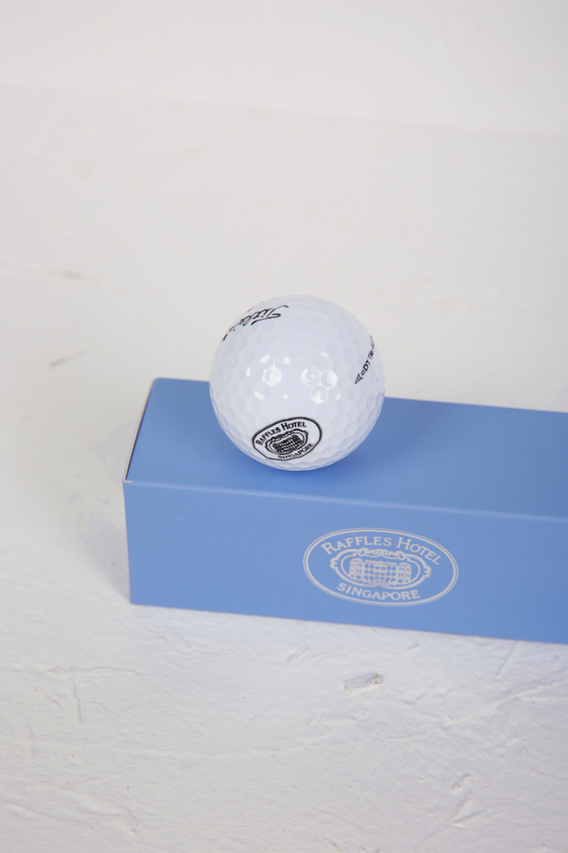 Golf Balls with Raffles Logo in 3 piece Gift Box