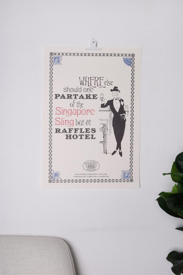 Raffles Partake Poster