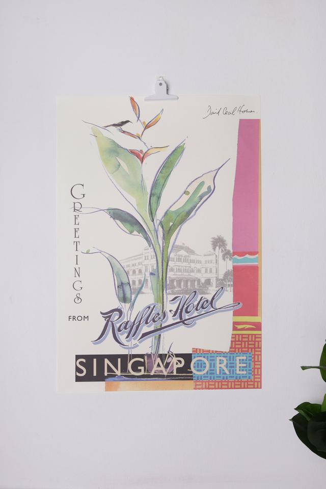 Raffles Bird of Paradise Poster