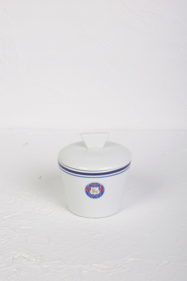 Raffles Porcelain Sugar Bowl with Lid