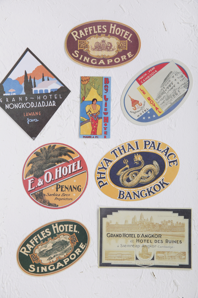 Raffles Luggage Stickers