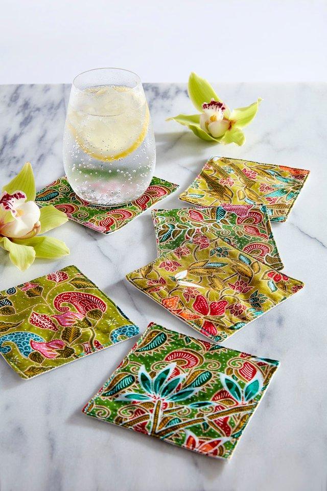 Batik Coasters