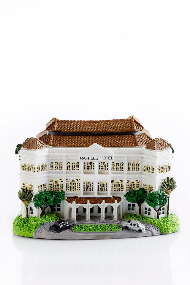 Raffles Hotel Singapore Miniature 3D Building