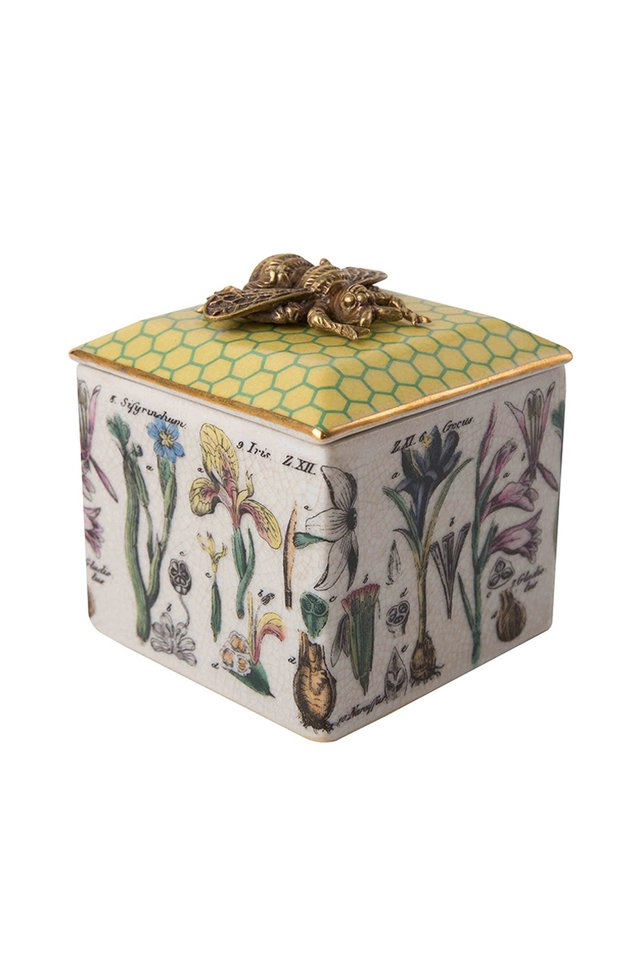 Artisanal Bee Porcelain Trinket Box
