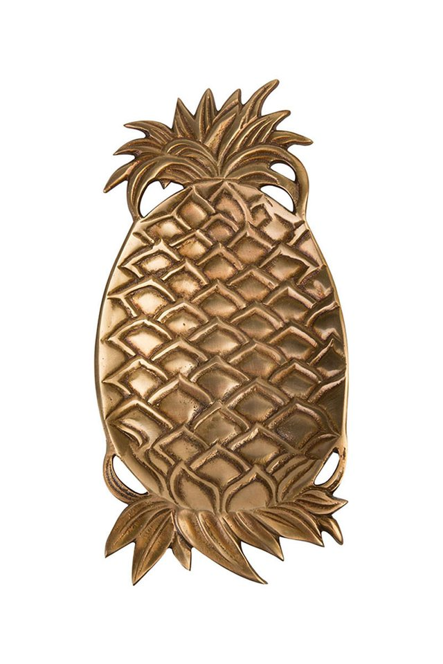 Artisanal Brass Pineapple Dish