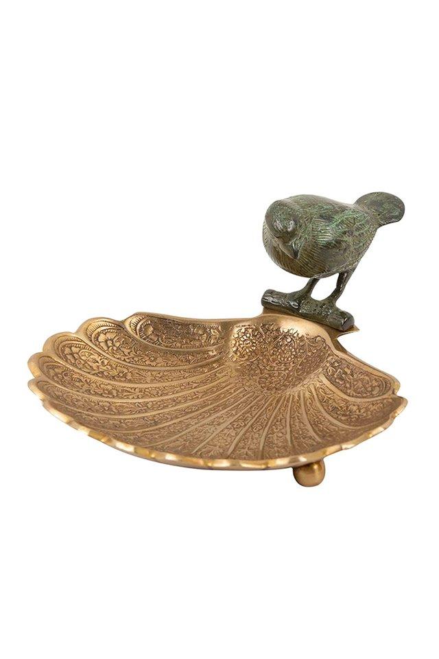 Artisanal Bird Brass Dish