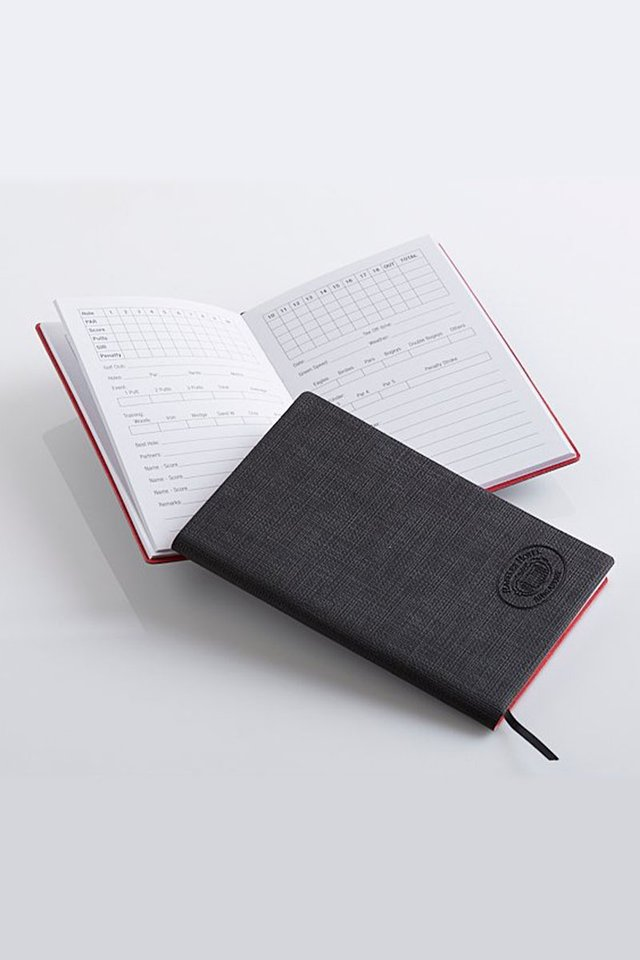 Raffles Leather Golf Score Notebook