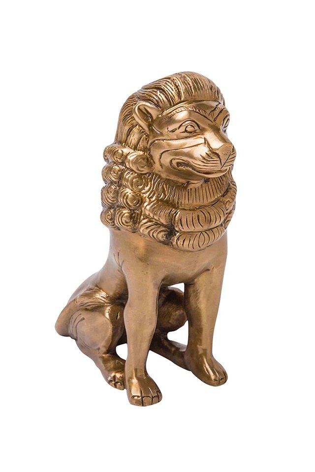 Artisanal Brass Lion