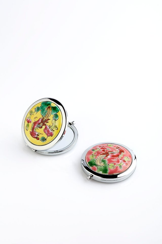 Porcelain Hand-painted Compact Mirror