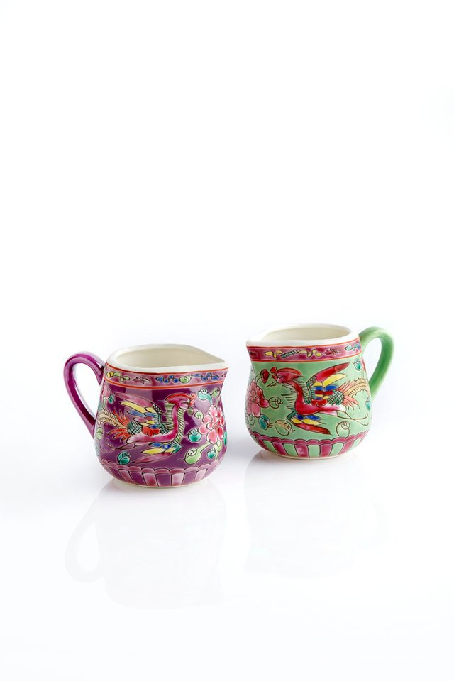Peranakan Motif Porcelain Mini Milk Jar