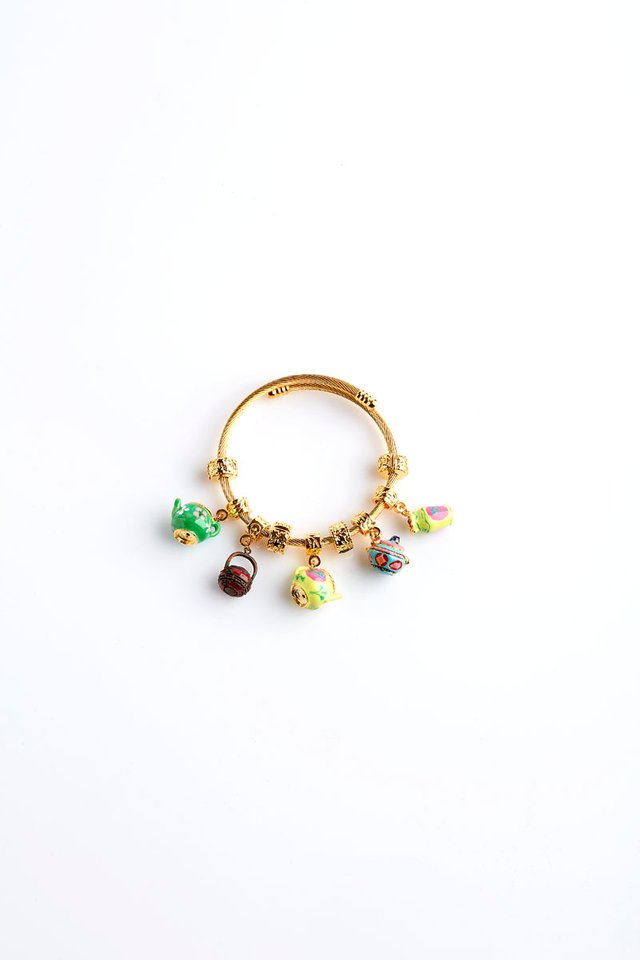 Peranakan Gold Bracelet With Handcrafted Charms