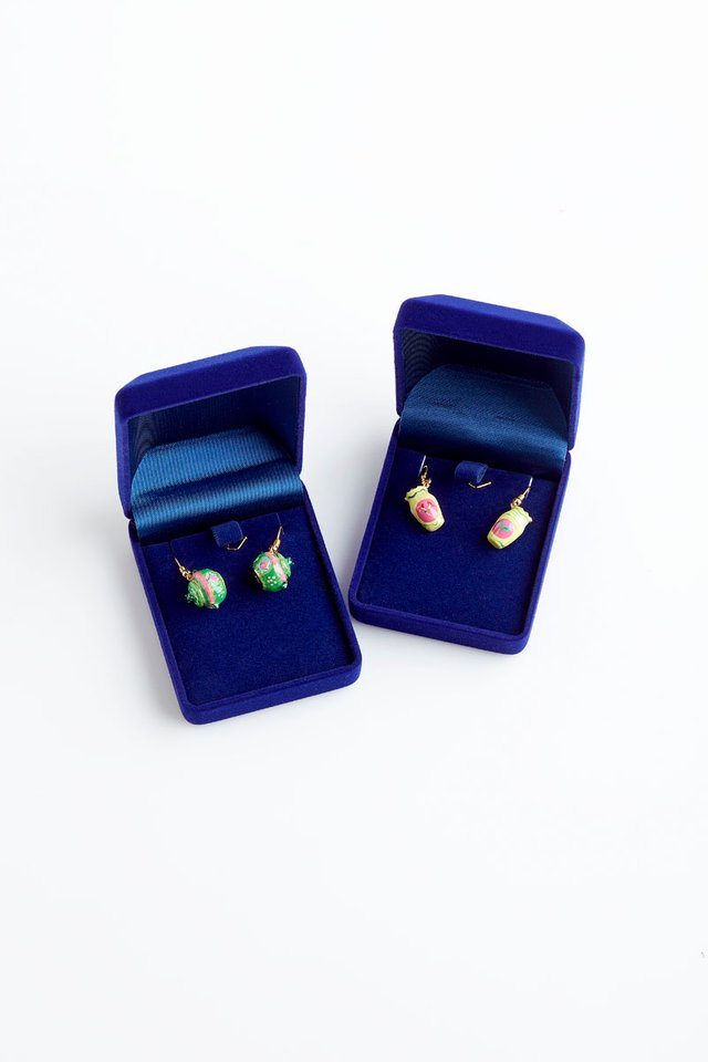 Peranakan Inspired 18K Gold Plated Kamcheng Earrings
