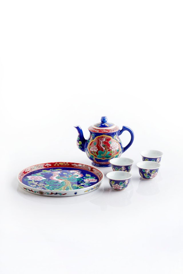 Traditional Peranakan Heritage Tea Set