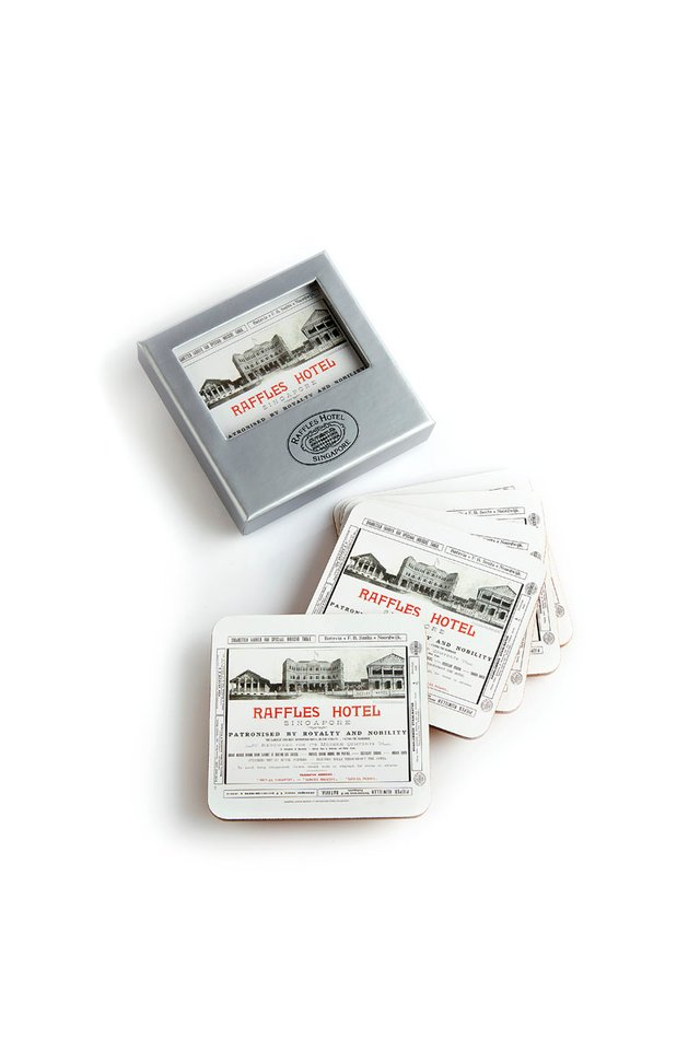 Raffles Heritage Advertisement Coasters
