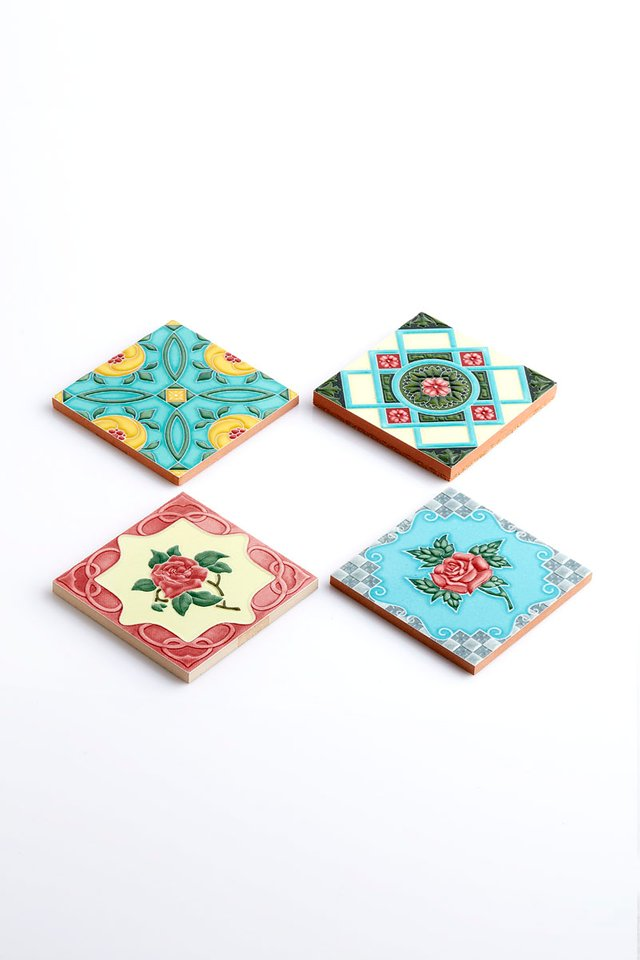 Peranakan Handmade Tile Coasters