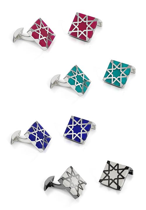 Melaka Cufflinks - Sterling Silver
