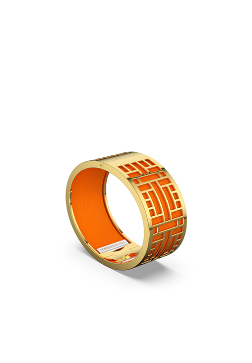 Huế Silk Bangle - Gold