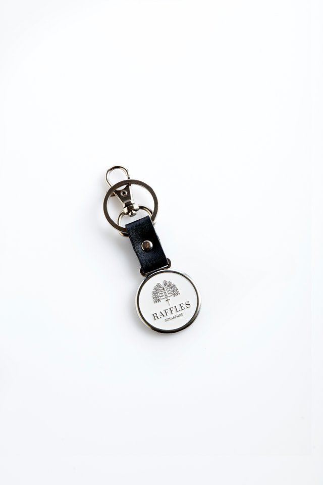 Raffles Palm Tree Logo Key Holder