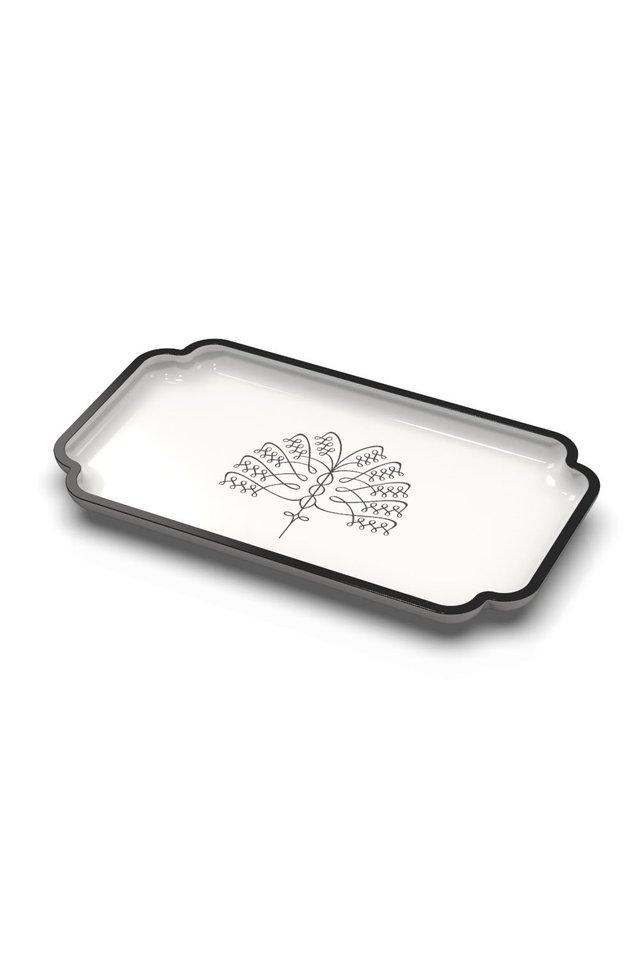 Raffles Palm Tea Tray (White)