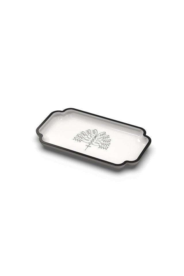 Raffles Palm Vanity Tray  (White)